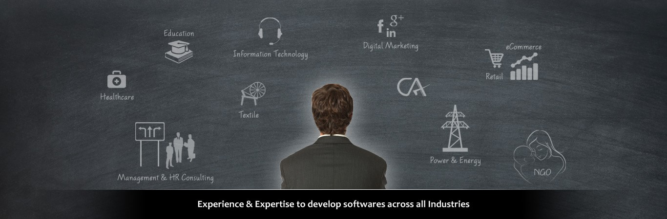 Experience & Expertise to develop softwares across all Industries